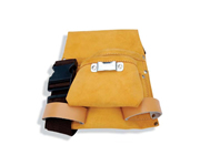 Leather Tool Pouch (Single Pocket) - with separate nylon pocket