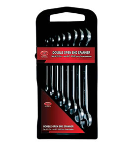 Vertical Plastic Rack Box type with Handle for 8pcs. DOE Spanner Set