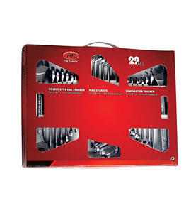 Colour Window box for 22pcs. Assorted Spanner Set